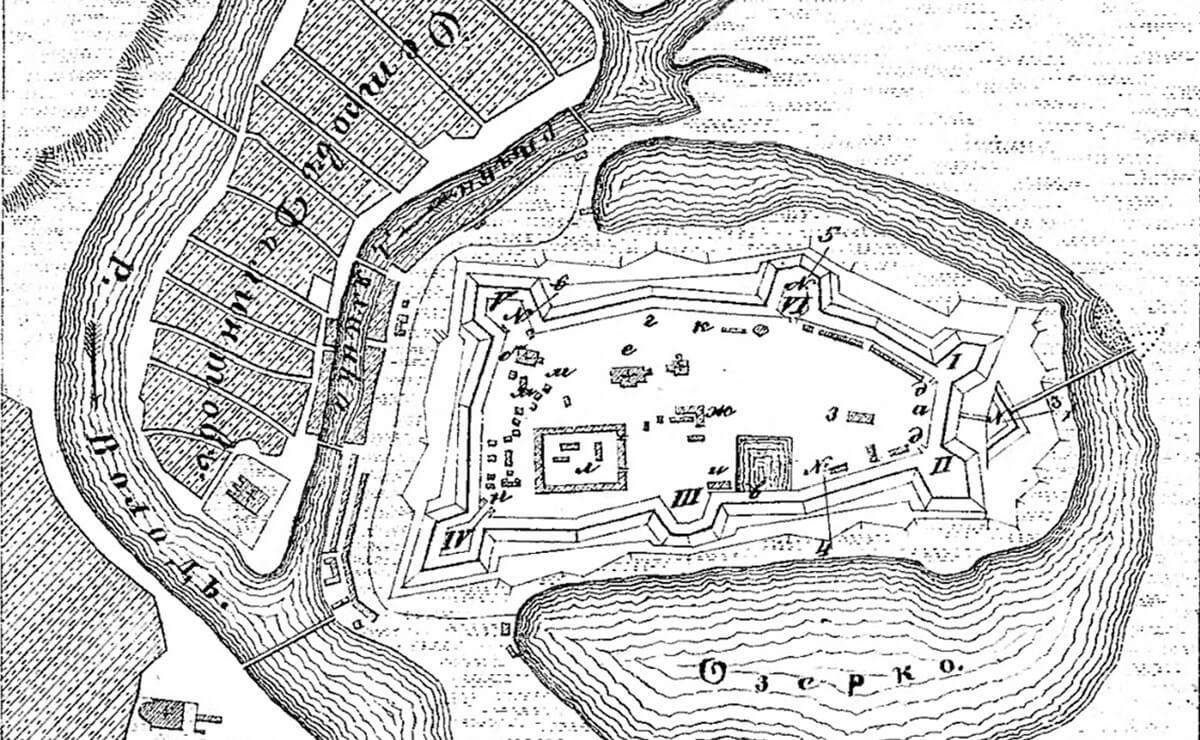 Чертеж Великолукской крепости