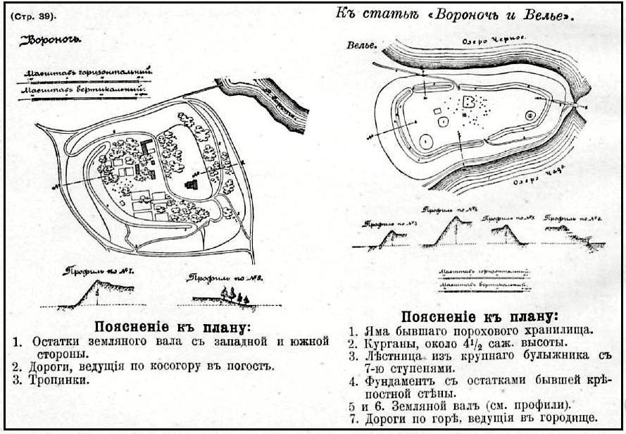Чертеж крепости Воронич