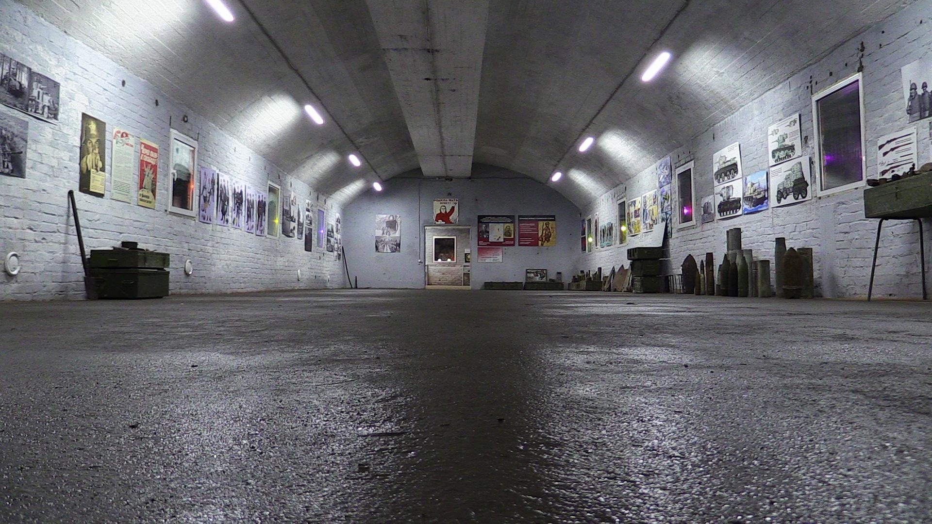 Экспозиционный зал бункера