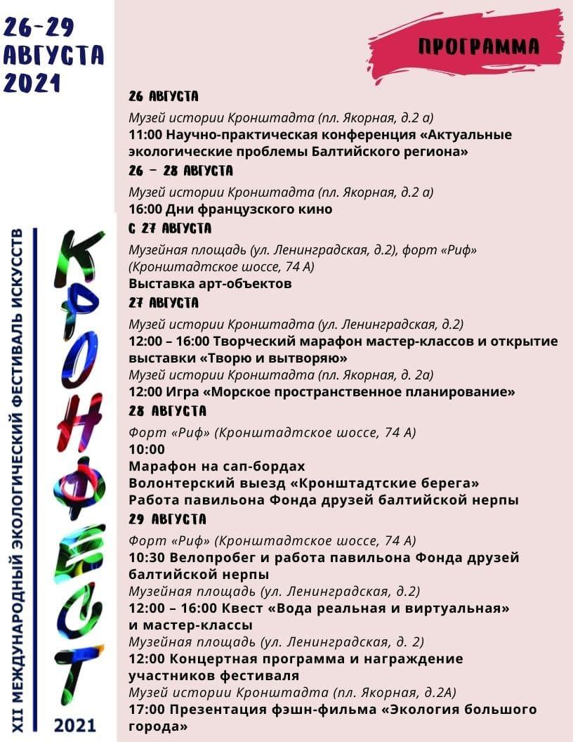 Программа фестиваля Кронфест